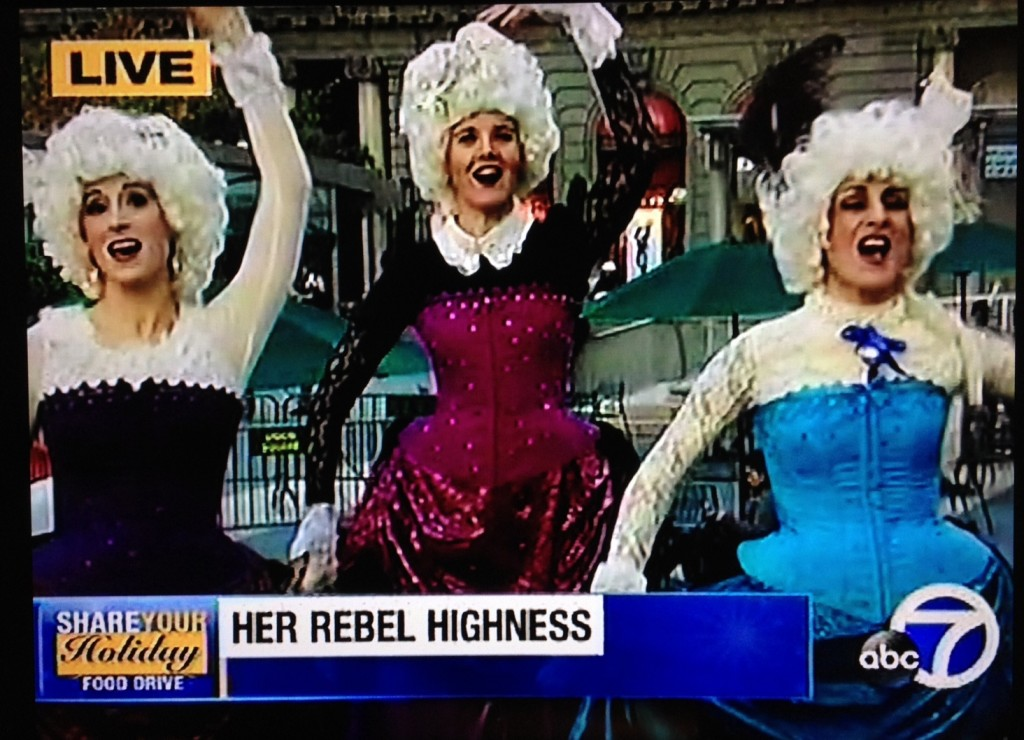 "Live on ABC7 News, 12/12/12,  during the broadcast of their Annual ""Share Your Holiday"" food drive."